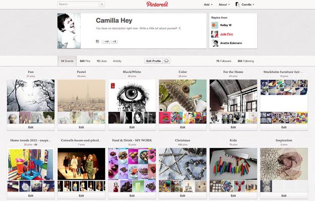 Camilla Hey på Pinterest